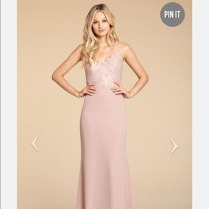 Dusty Rose Hayley Paige occasions dress